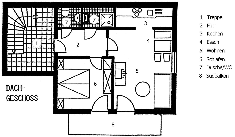 Wohnung Bergblick - Grundriss